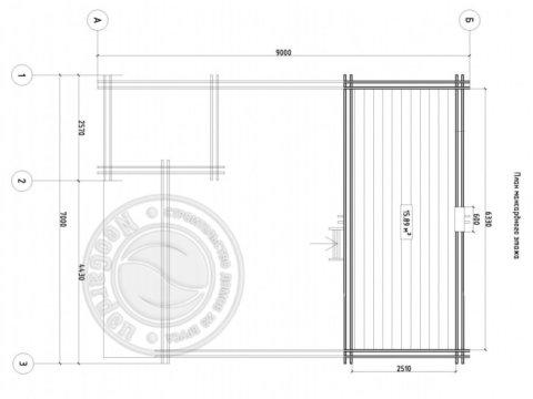 план второго этажа дома из двойного бруса