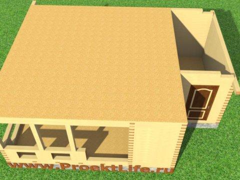 Крыша своими руками-для-бани-из-бруса-потолок