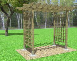 Как построить садовую беседку (перголу)