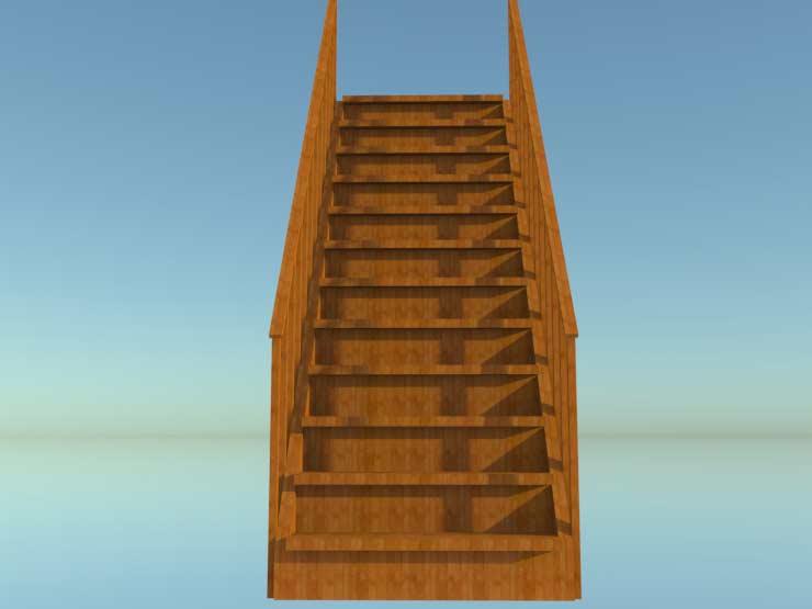 Прямая лестница для дома своими руками