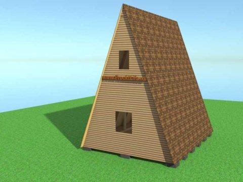 А-образный дом своими руками-дом-5