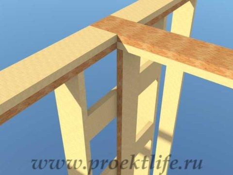 Как построить дом-верхняя обвязка перегородки