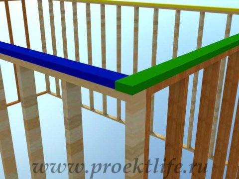 Как построить дом-верхняя обвязка каркаса