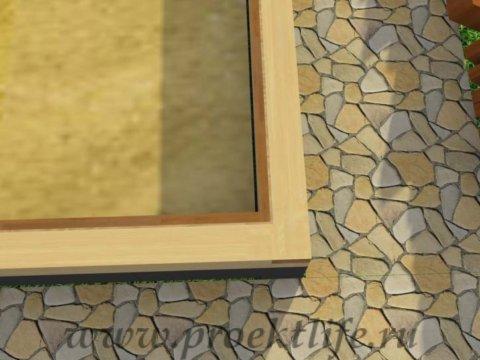Каркасная баня с двускатной крышей-нижняя-обвязка-перекрытия