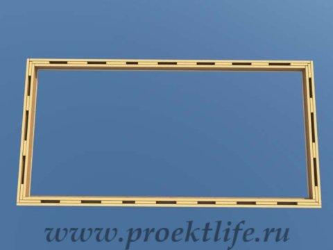 Нижняя обвязка имитация нижней обвязки из трёх досок
