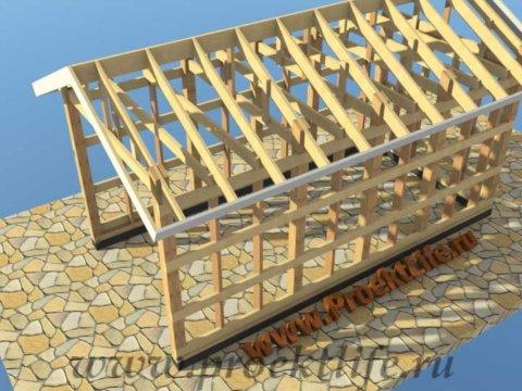 Каркасный гараж своими руками крыша