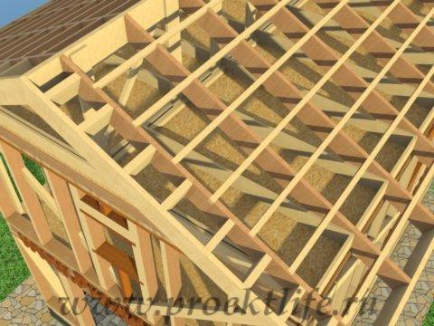 двухэтажный каркасный гараж-обрешётка-крыши