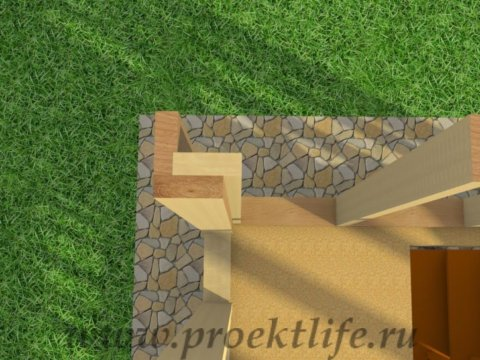 двухэтажный каркасный гараж-угол-из-3-досок