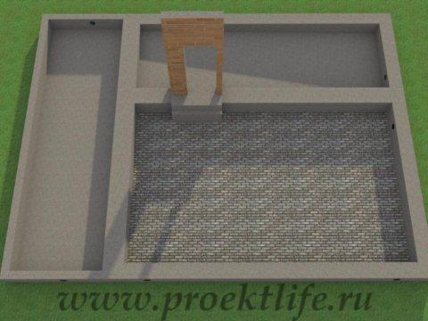 Двухэтажный гараж-ленточный фундамент