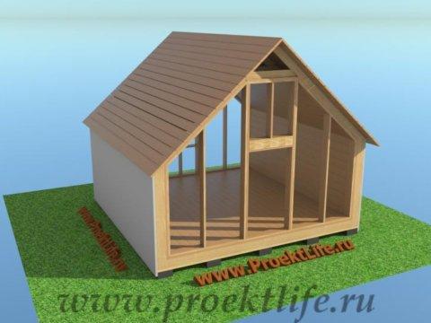 деревянный дачный-дом-черновая-крыша