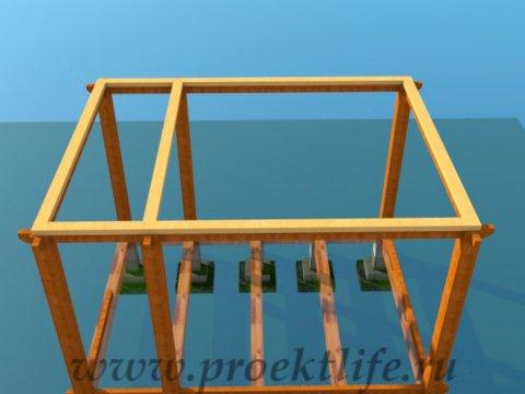 деревянный дачный домик-верхняя-обвязка