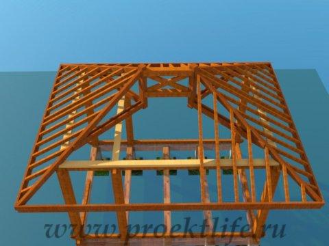 деревянный дачный домик монтаж стропил