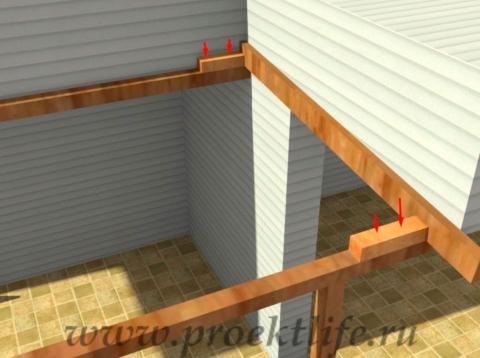 Угловая веранда своими руками - делаем крышу