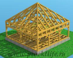Как построить каркасный дом избруса