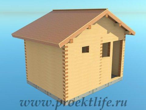 12-Банька-из-бруса-черновая-крыша