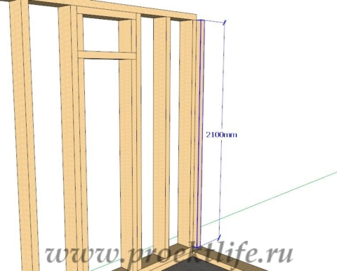 Каркасная банька-стена-3-2