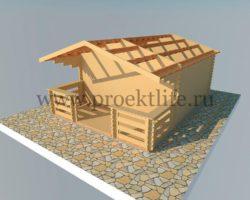 Комплект садового домика для самостоятельной сборки
