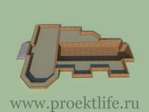 каркасный дом-фундамент