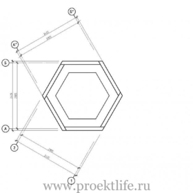 чертёж шестиугольной беседки