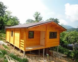 """Деревянный дачный дом из бруса 45x130 мм """"Рикардос"""""""