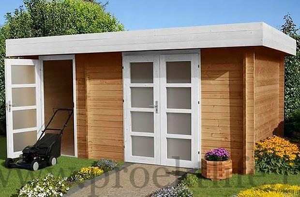 """- Уютный садовый домик из бруса 45 мм """"Модерн-2"""" - 3 8"""