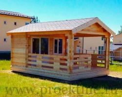 """Садовый дачный домик из бруса 45 мм """"Уют"""""""