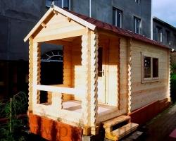 """Садовый домик из мини-бруса 45 мм """"Миллер"""""""