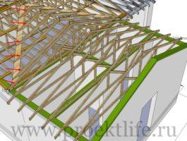 крыша - Как сделать крышу на пристройке к дому - 3 9 265x200
