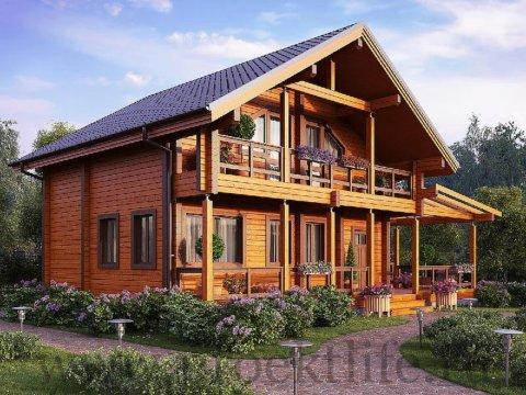 Тёплый дом из двойного бруса