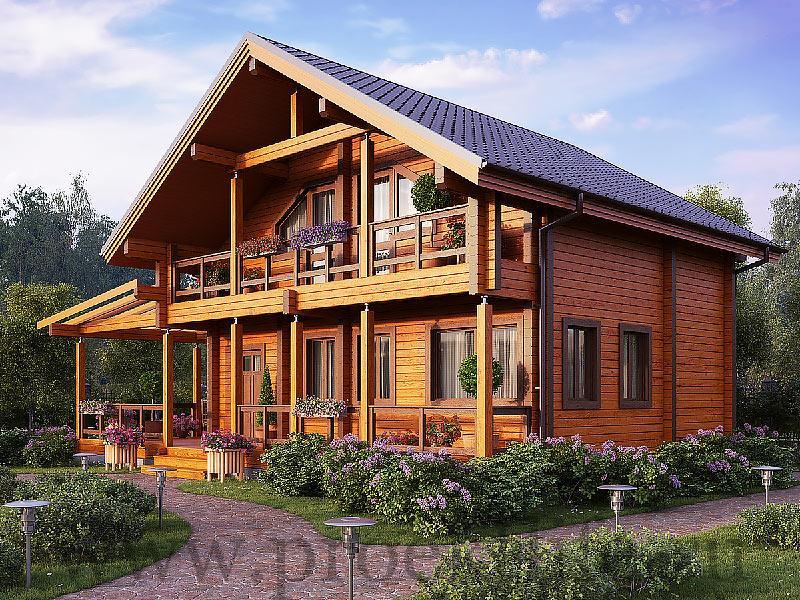 Тёплый дом из бруса