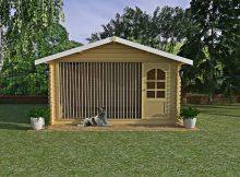 Вольер для собаки 4×3 m c двускатной крышей