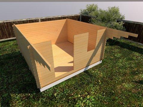 стены дачного домика