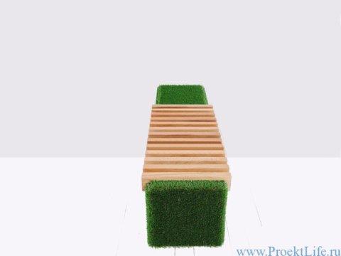 Лавочка Sherwood-1 садовая мебель