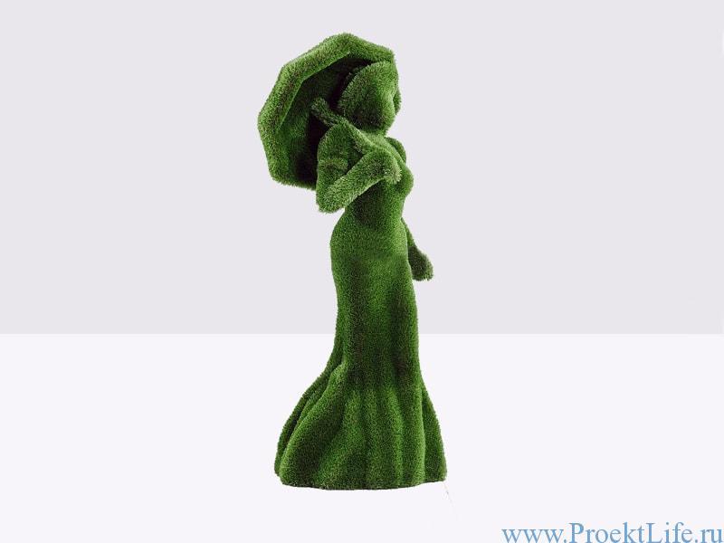 Садовая скульптура - Девушка с зонтом