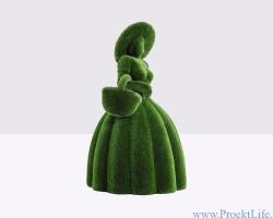 Садовая форма топиари – Девушка с корзиной