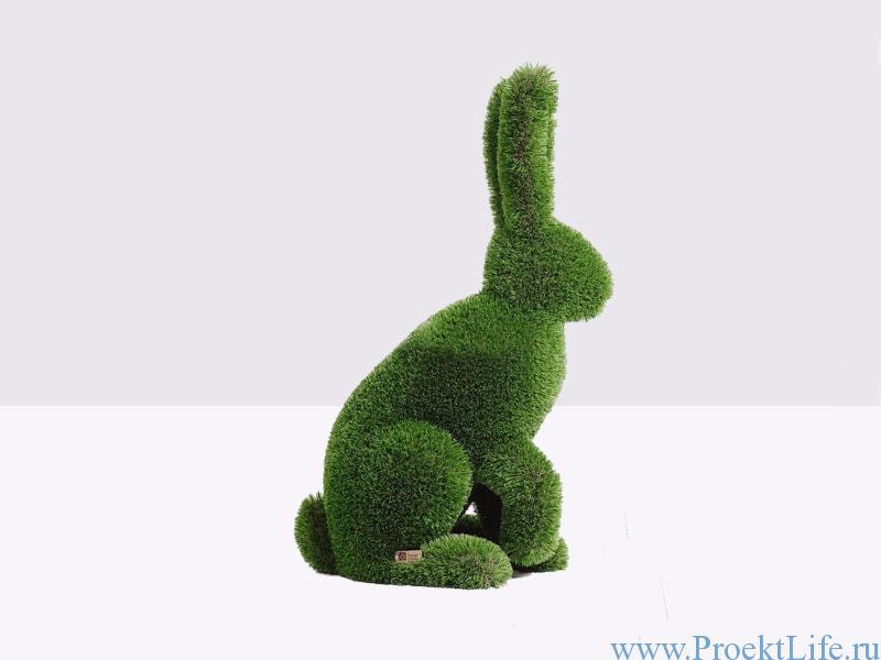 Садовая скульптура - Кролик сидячий