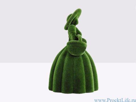 Садовая фигура - Девушка с корзиной