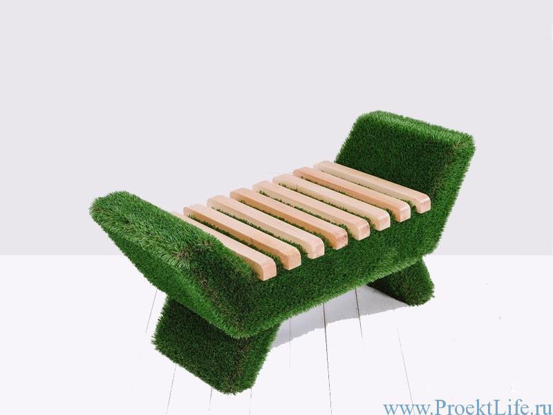 Садовая мебель Лавочка Barocco светлого цвета