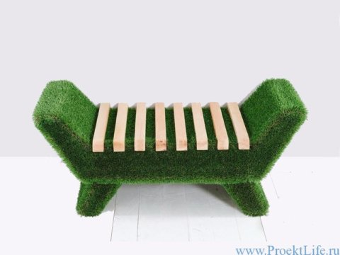Мебель для сада Лавочка Barocco светлого цвета