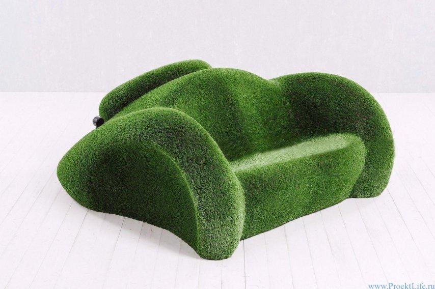 садовые скульптуры - машинка диван