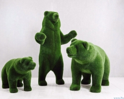 Статуя топиари – Три медведя