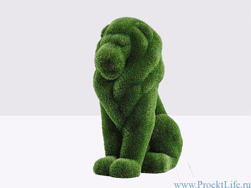 Садовая скульптура - Большой лев