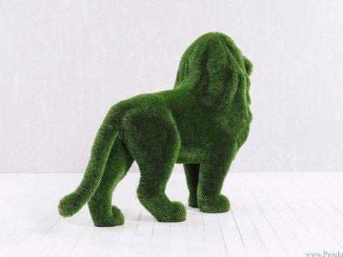 Садовая скульптура - Большой стоячий лев
