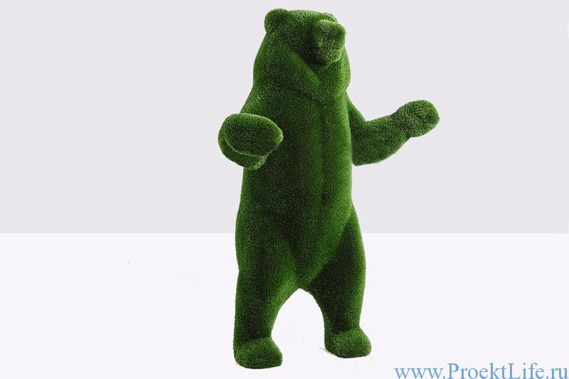 топиари медведь