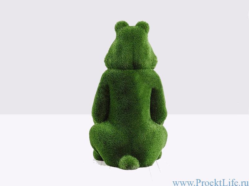 Садовая фигура - Медведь с корзинкой