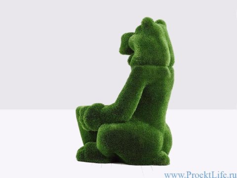 Топиари - Медведь с корзинкой