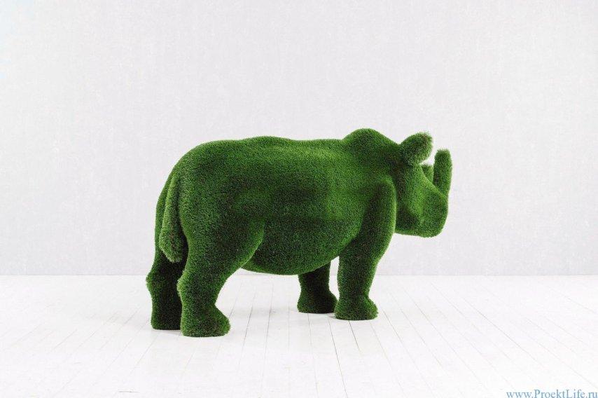 Садовая фигура - Носорог маленький