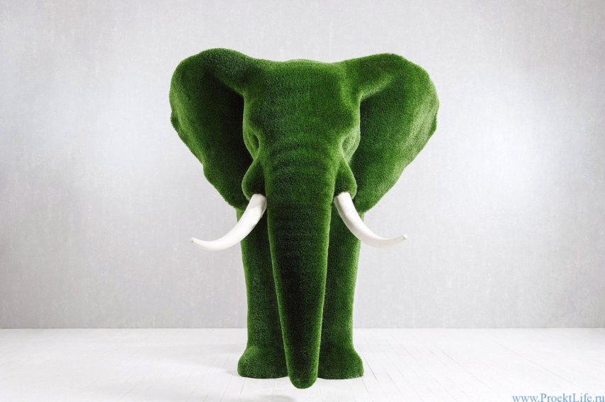 Садовая фигура-Слон большой