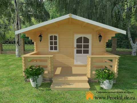 """Садовый домик из мини-бруса """"Краснодар"""""""