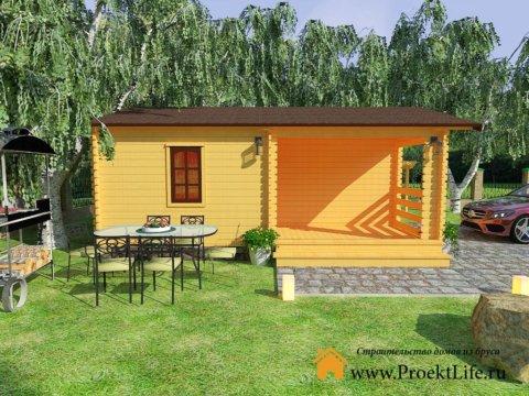 Дачный домик из мини-бруса